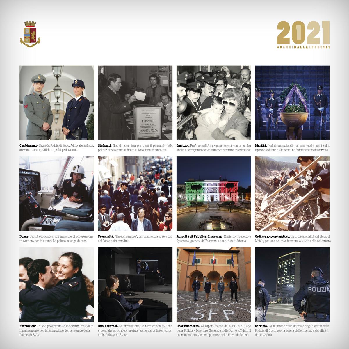 Polizia di Stato, presentato il calendario 2021 FOTOGALLERY