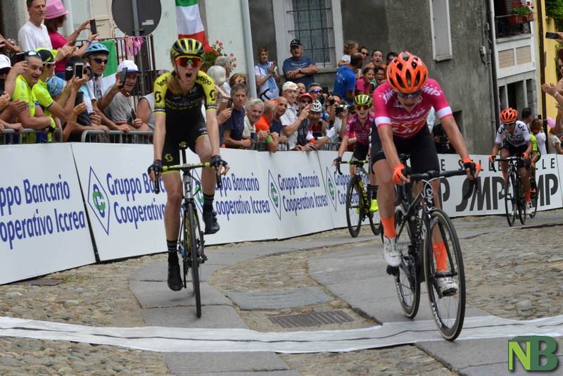 Ciclismo, Giro Rosa: festa italiana in Brianza. Borghesi vince al fotofinish