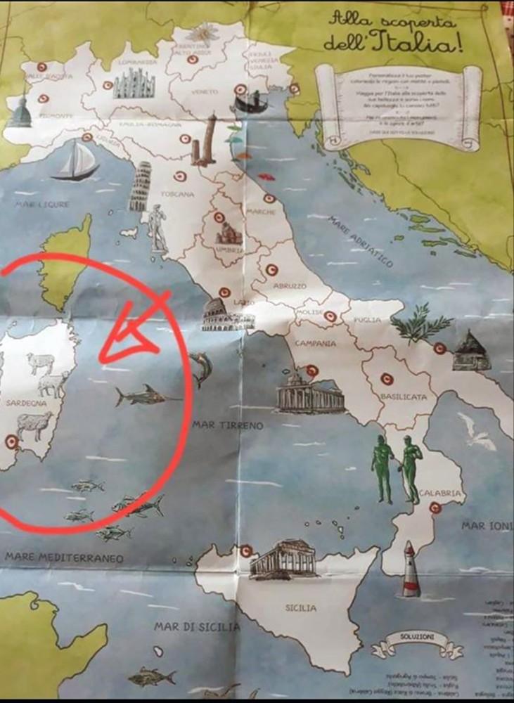 Cartina Sardegna Per Bambini.La Sardegna Nei Libri Di Scuola Simboli O Attivita Produttive Newsbiella It