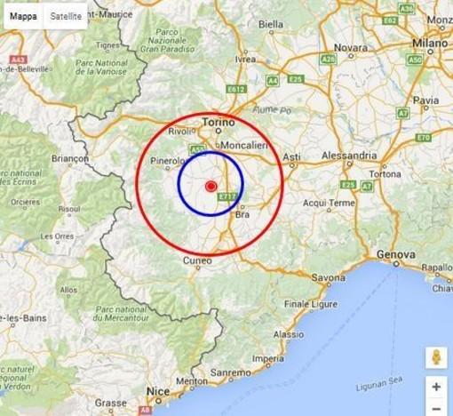 Scossa di terremoto nel torinese: magnitudo 3.9 sulla scala Richter