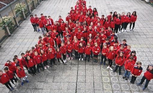 I bambini dell'Istituto Lamarmora in una foto scattata nel 2019