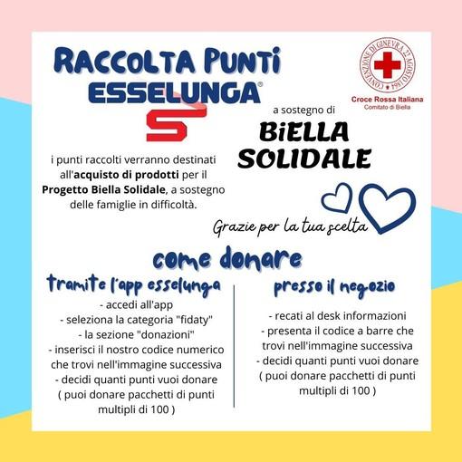 Biella Solidale, come donare i punti Fidaty Esselunga per sostenere il progetto della Cri