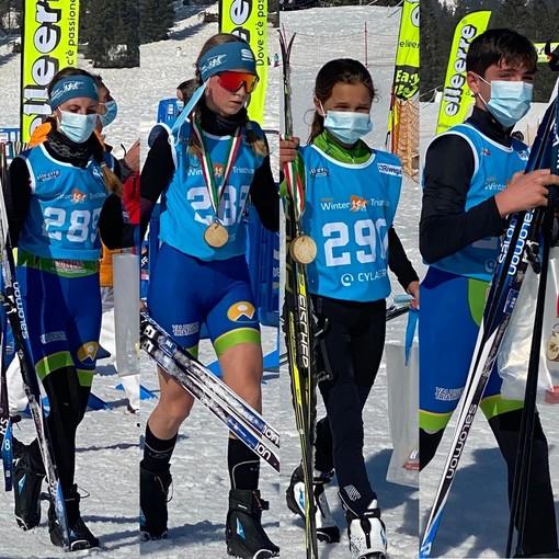 Valanga di podi per Valdigne Triathlon ai Campionati Italiani di Winter Triathlon e al Winter Cross Duathlon di Asiago