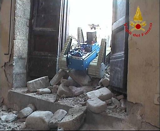Amatrice, impiegati robot per il rilievo del danno sismico nelle chiese di San Francesco e Sant'Agostino FOTOGALLERY