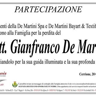 Gianfranco De Martini, partecipazione