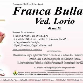 Franca Bullano, ved. Lorio