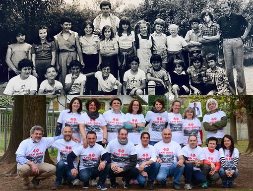 Altro che #10YearsChallenge… Di nuovo insieme dopo 40 anni gli alunni della 4A di Vigliano-Amosso
