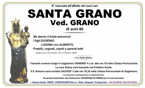 Santa Grano, ved. Grano