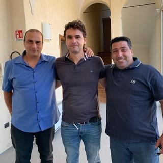 Da sinistra Amoruso, Cabrio, Abbate - Foto Accademia Soccer Biella