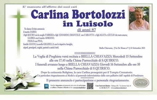Carlina Bortolozzi in Luisolo