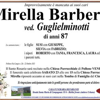 Mirella Barbera P., ved. Guglielminotti