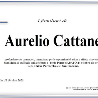 Aurelio Cattaneo - Ringraziamento -