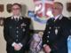 Da sin: il colonnello Carrararo e il comandate provinciale dell'Arma Ronchey