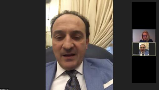 """Al Rotary di Biella il """"mondo"""" medico e il presidente della Regione Cirio parlano del Covid19"""