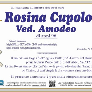 Rosina Cupolo Ved. Amodeo