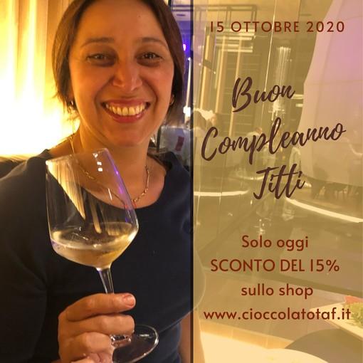 """""""Buon Compleanno Titti"""": solo per oggi 15% di sconto a Cioccolato TAF"""