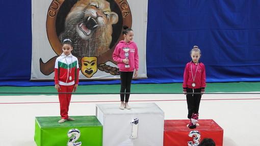 Rhythmic School: due ori e un bronzo nella prima prova regionale individuale