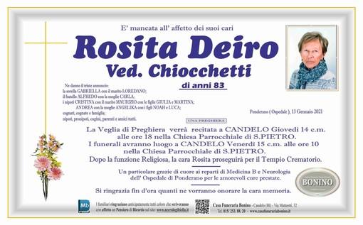 Rosita Deiro ved. Ciocchetti