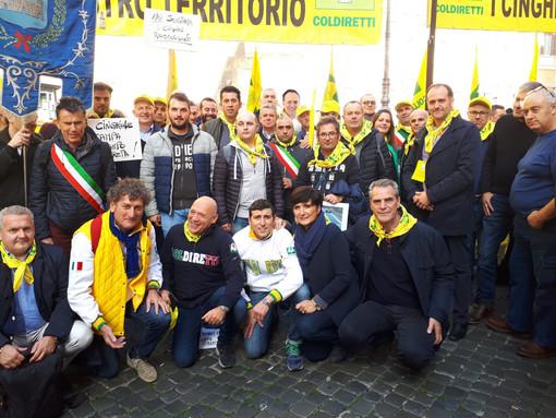 Invasione cinghiali e animali selvatici, a Roma anche la delegazione di Coldiretti Biella