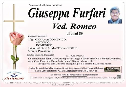 Giuseppa Furfari ved. Romeo