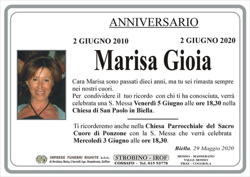 Marisa Gioia - Anniversario -