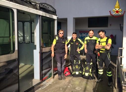 Dal Comando Provinciale dei Vigili del Fuoco di Biella un ringraziamento alle Funivie Oropa