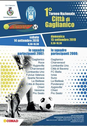 Calcio: Tutto pronto per il 1° torneo Nazionale città di Gaglianico