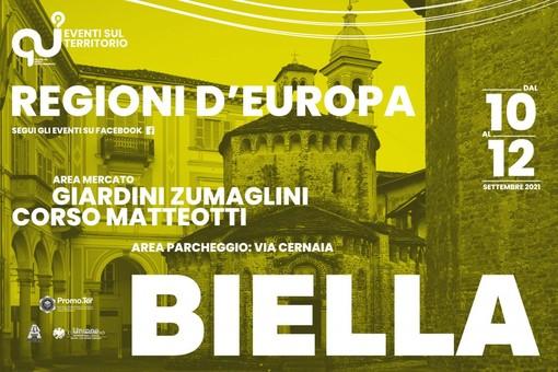 Regioni d'Europa a Biella il 10-11 e 12 settembre, cibo e artigianato dai Continenti