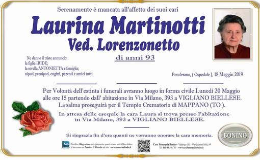 Laurina Martinotti ved. Lorenzonetti