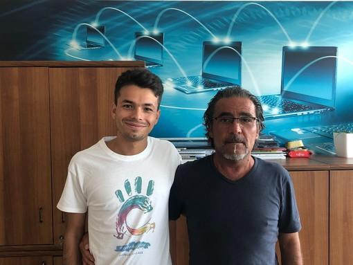 Luan Masiero con il direttore sportivo Bifernino - Foto Cerversama