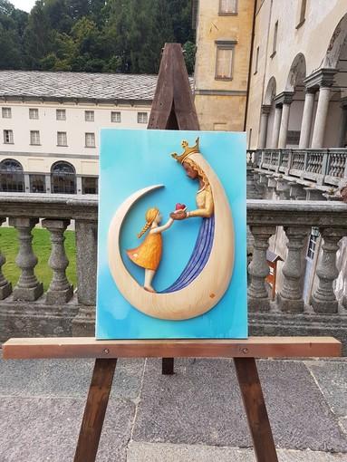 Il bassorilievo di Stefania Nicolo - Foto Santuario di Oropa