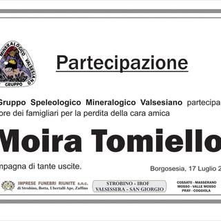 Moira Tomiello, partecipazione Gruppo Speleologico Mineralogico Valsesiano