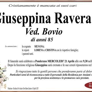 Giuseppina Ravera ved. Bovio