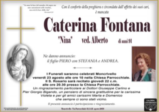 "Caterina Fontana ""Nina"" Ved. Alberto"