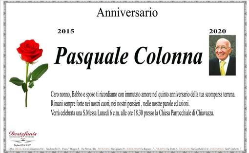 Anniversario Pasquale Colonna