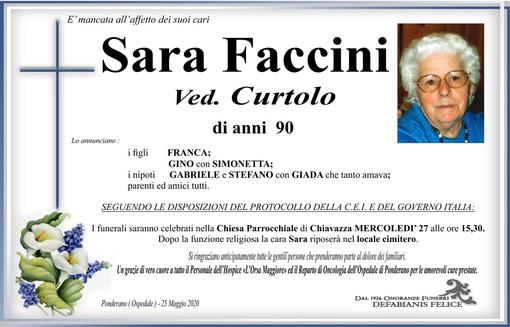 Sara Faccini Ved. Curtolo