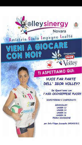 Occhieppese Pallavolo si unisce al progetto Sinergy della Igor Volley Trecate