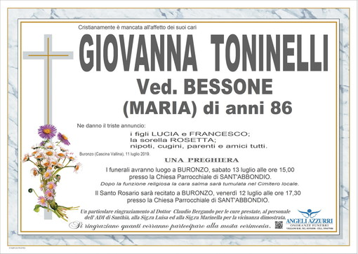 Giovanna Toninelli in Bessone