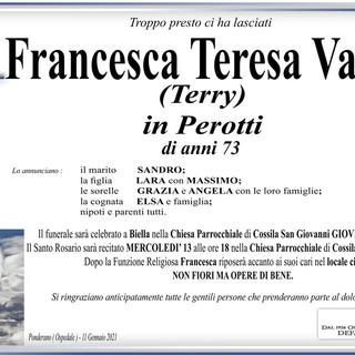 Francesca Teresa Vallone (Terry) in Perotti