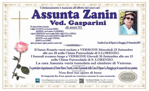 Assunta Zanin Ved. Gasparini
