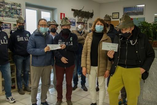 Alpini di Ponderano, dalla vendita di oltre 1000 cesti natalizi 6500 euro per Angsa e Parrocchia