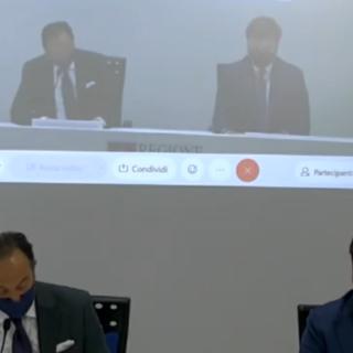 Il presidente della Regione, Alberto Cirio e il presidente di Confindustria Piemonte, Marco Gay