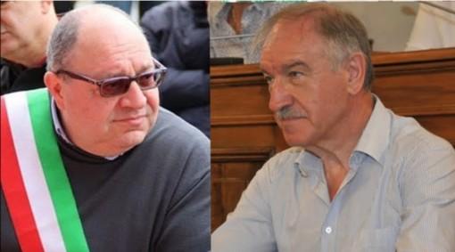 Il sindaco Corradino e l'assessore al bilancio Tosi presenti all'incontro Seab-Comune