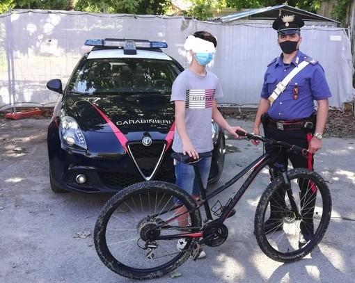 Non sfugge nulla ai Carabinieri: recuperata mountain bike rubata un mese fa ad un ragazzino