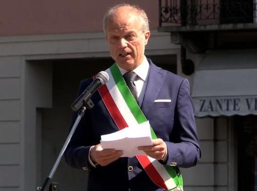 """25 Aprile a Gaglianico, Maggia: """"In una piazza vuota nella realtà ma piena nei miei pensieri"""" VIDEO"""