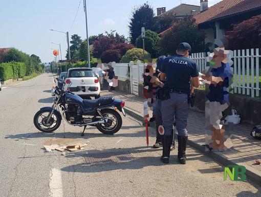 Incidente auto moto ad Occhieppo Inferiore - Foto Fighera per newsbiella.it