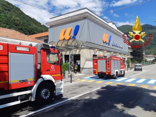 Dal nord ovest: Allarme incendio alla Unes di Varallo