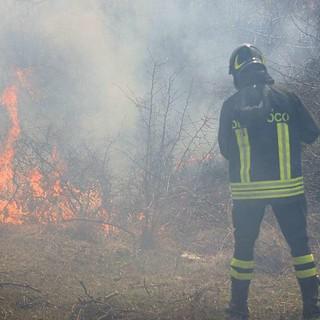 vigili fuoco sterpaglie