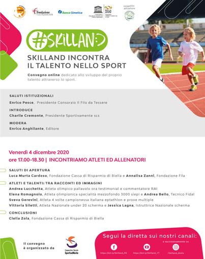 """Andrea Lucchetta, Elena Romagnolo e Sveva Gerevini domani a """"Skilland incontra il talento dello sport"""""""