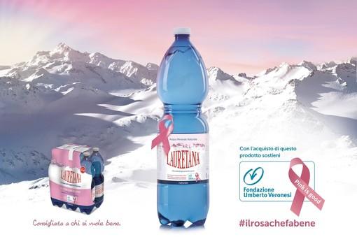Le bottiglie con l'etichetta rosa sostengono la ricerca